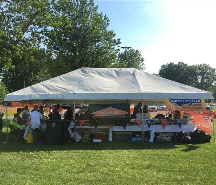 Photo of SERVPRO tent at River Rock at the Amp